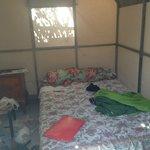 L'interno della bed tent (scusate il disordine!!)