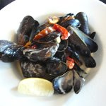 Mussels steamed with jalapeno & cream @ O'Connor's Seafood Restaurant
