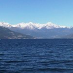 The Alps seen from the lake...