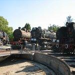 Locomotives on the turntable