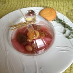Autumn Fruits Compote with a pipette of Chataignier Liqueur