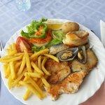 the fish platter,  menu no2