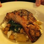 Salmon with baby spinach and feta... A winning combination.