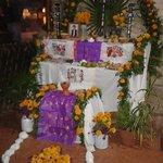 Altar de hanal pixan, celebración a los muertos.