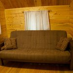 Couch in Camping Cabin