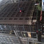 View from Madison Avenue - hotel is brick built 14 storey building on corner