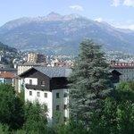Utsikt over Aosta fra Norden Palace Hotel