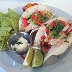 Fish Tacos at Drummer's Cafe