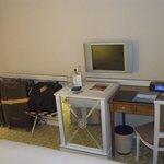 Fridge and  (small) TV