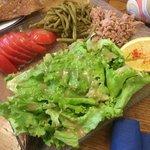 Une bonne salade pour l'entrée