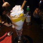 Ammaretto ice cream dessert