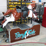 kiddie rides, soda, candy, and popcorn machines brought back to life
