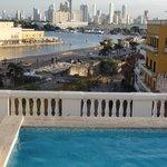 Vista desde la piscina del último piso