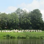 Ramparts Cemetery viewed from the opposite river bank