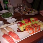 Rainbow Roll, Hamashi, Sake, Unagi Avo Roll, Sake Tobiko Avo Roll
