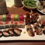 Hotate Tataki, Ikura Spezial, Rainbow Roll, Spicy Ebiten Roll, Spider Roll