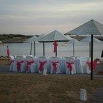 Set up for wedding