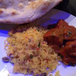 Kathmandu chicken and peshwari rice - nice
