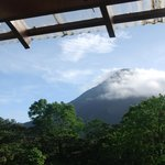 The many faces of Arenal Volcano seen from our room
