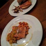Fish Sandwich and Salmon entree from the new menu. Both taste amazing!