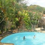 piscina visat desde el  comedor