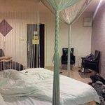 bed in the honeymoon suite