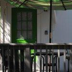 Green Cottage Door/Deck