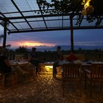 Dining with the sunset in view
