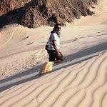 Fine sand on the big dune