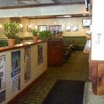 large area for gatherings, many booths and TV's to watch