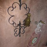 lovely wrought iron towel rack all attention to detail is lovely