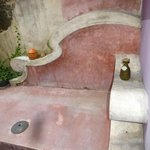the cool seat nex to to outside bath