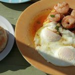 Shrimp and Grits with side of biscuits