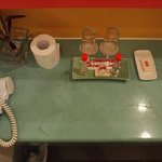 toilet with basic necessity