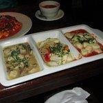 Combination: Mushroom gnocchi, tomato cream gnocchi & chicken sausage ravioli