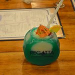 Yes, they serve drinks in a fish bowl!