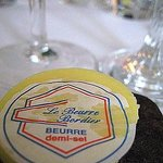 Attention to details, nothing but the best (Bordier butter served at every meal on a smooth ston