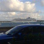 Cruise liner taken at table