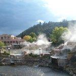Steaming hot springs!