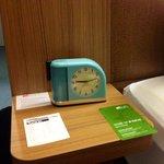 Even the alarm click is retro-cool.