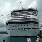 carnival glory docked at freeport