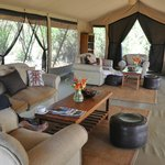 Tented Safari Lounge at Encounter Mara Safari Tented Camp