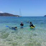 Snorkling near Hayman Island - we saw turtles