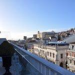 Uitzicht van op het terras van de ontbijtruimte