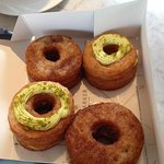 Cronuts themselves. The ones without frosting were the nicer ones