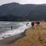 Der Strand westlich von Elantxobe