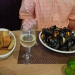 Moules and chips