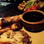 My French dip with house salad.