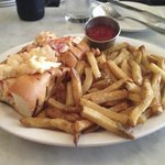 Hot butter lobster roll with fries