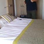 Nos dieron una habitación con 2 camas :( eso sí, eran muy cómodas!